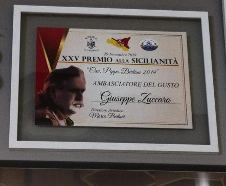 Premio sicilianità Zuccaro