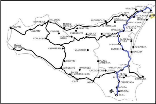 mappa francigene Sicilia