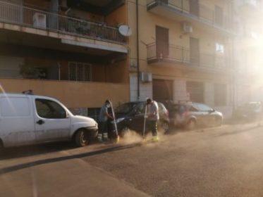 sabbia nera nelle strade