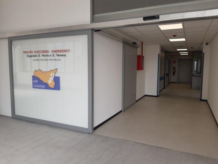nuovi locali pronto soccorso ospedale di Acireale