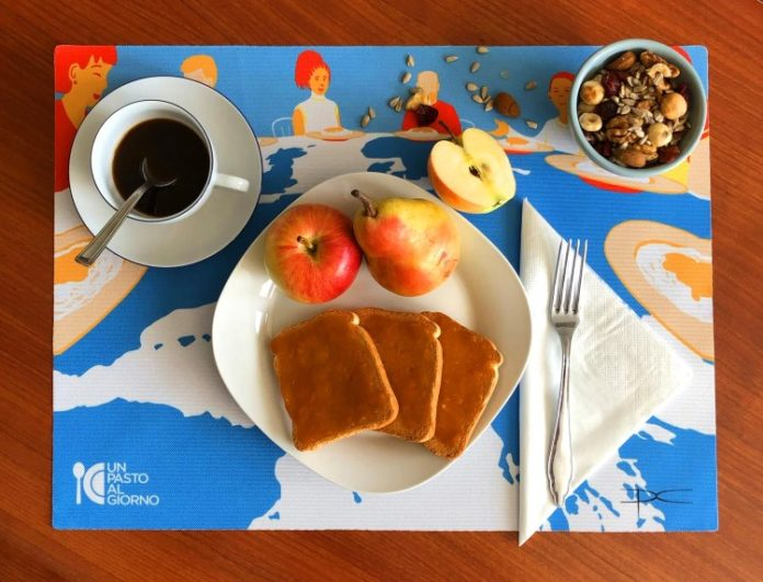 Un pasto al giorno-tovaglietta