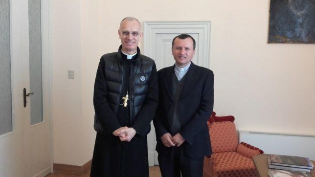 il vescovo Raspanti e mons Giovanni Mammino